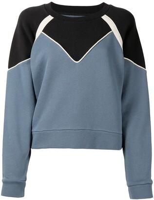 BA&SH Brick colour-block sweatshirt