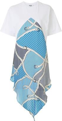 MSGM striped-panel T-shirt dress