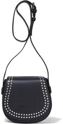 McQ Mini Satchel Studded Logo-embossed Leather Shoulder Bag