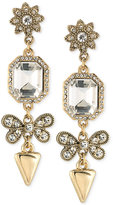 ABS by Allen Schwartz Gold-Tone Mixed Crystal Drop Earrings
