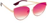 McQ by Alexander McQueen Alexander McQueen Cat Eye Brow Bar Sunglasses