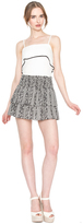 Alice + Olivia Anya Tiered Smocked Waist Mini Skirt