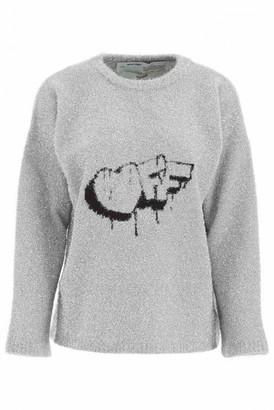 Off-White Silver Cotton Knitwear