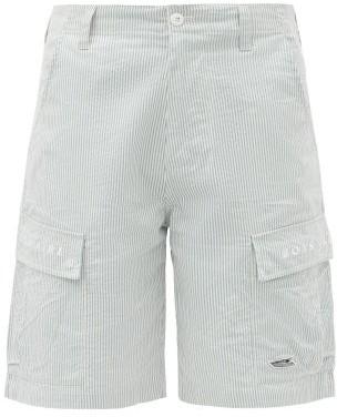 Billionaire Boys Club Logo-embroidered Cotton-seersucker Shorts - Light Blue