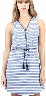 M&Co Izabel striped zip front shift dress