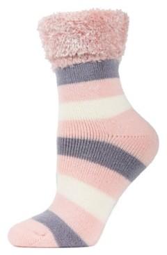Me Moi Multi Stripe Plush Women's Cabin Socks