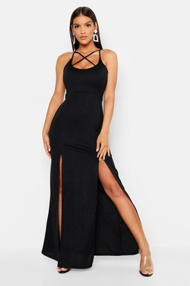 boohoo Strappy Plunge Maxi Dress