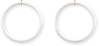 BONDEYE JEWELRY Powdered Donut White Onyx Hoop Earrings
