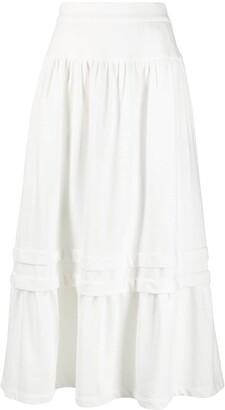 MM6 MAISON MARGIELA high-waisted A-line skirt