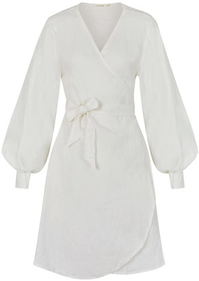 Sukee Linen Wrap Dress