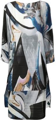 Pleats Please Issey Miyake Musa graphic-print plisse dress