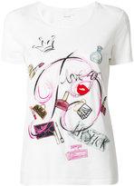 Blumarine make-up graphic T-shirt