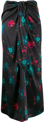 Ganni Floral Long Skirt