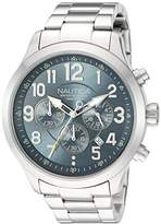 Nautica Men's 'NCC 01 CHRONO' Quartz Stainless Steel Casual Watch, Color:Blue (Model: NAD16549G)