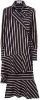 Palmer Harding palmer/harding palmer//harding Wrap-Around Striped Shirt Dress, Navy, UK 10