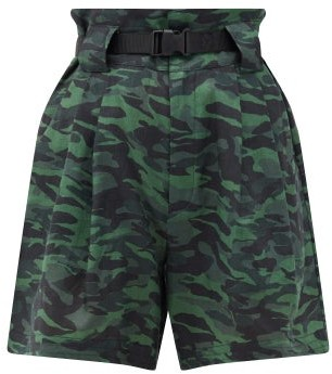 Solid & Striped The Talia Camouflage-print Linen Shorts - Camouflage