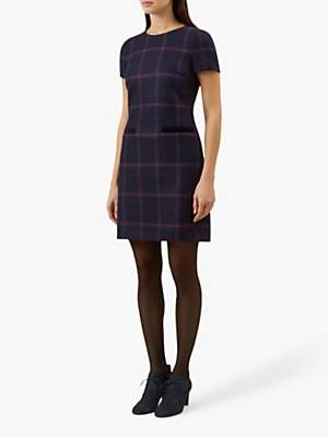 Hobbs Riley Dress, Navy/Pink