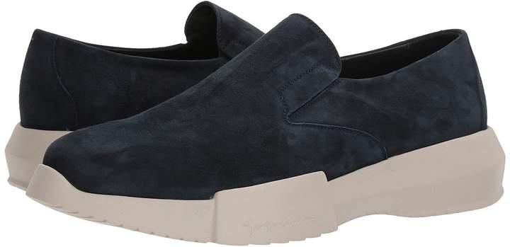 Giorgio Armani Suede Slip-On Sneaker Men's Shoes