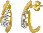 JCPenney FINE JEWELRY diamond blossom 1/3 CT. T.W. Diamond Cluster Drop Earrings
