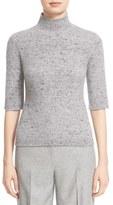 Nordstrom Women's And Caroline Issa Cashmere & Merino Wool Mock Neck Pullover