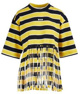 MSGM T-shirt with fringing
