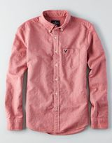 American Eagle AEO Slim Solid Button Down Shirt