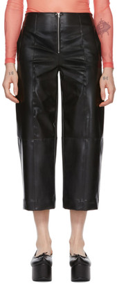 Supriya Lele Black Natural Rubber Trousers