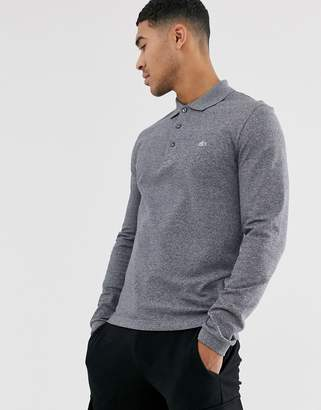 Lacoste long sleeve polo shirt in Grey-Navy