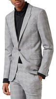 Topman Men's Ultra Skinny Fit Check Suit Jacket