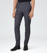 Reiss Reiss Severinos - Slim Check Trousers In Blue