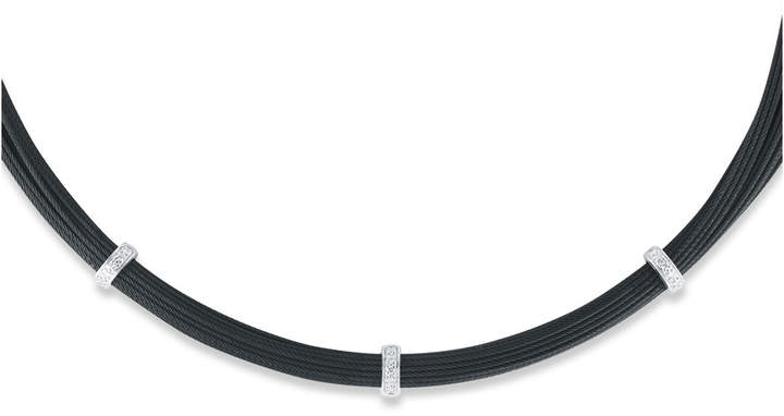 Alor Noir Steel & 18k Diamond Multi-Cable Necklace