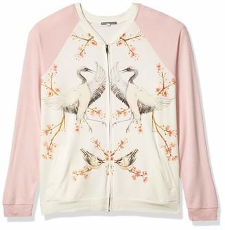 PJ Salvage Women's Lounge Zip Up Sweatshirt