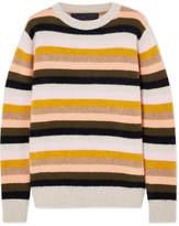The Elder Statesman Striped Cashmere Sweater - Yellow