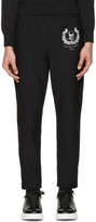 Alexander McQueen Black Skull & Crown Lounge Pants