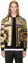 Versace Black & Gold Medusa Bomber Jacket