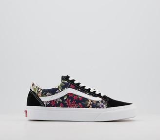 Vans Old Skool Trainers Floral Black Multi True White Exclusive