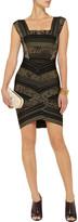Herve Leger Rose-print bandage dress