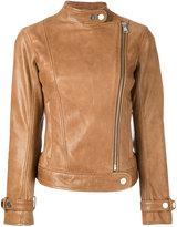 Dondup zip up biker jacket - women - Lamb Skin/Polyester - 42