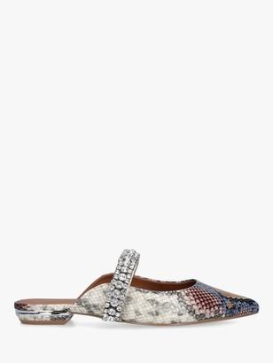 Kurt Geiger Princely Snake Print Embellished Mules, Multi