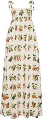 Agua Bendita Verbena Frutas Linen Maxi Dress