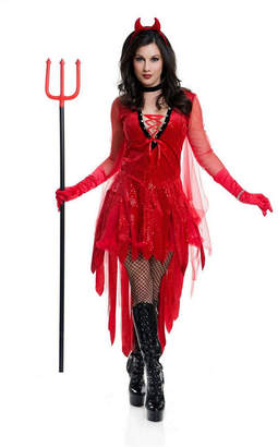 BuySeasons Women Devil Adult Costume, Fake Ptich Fork Not Included