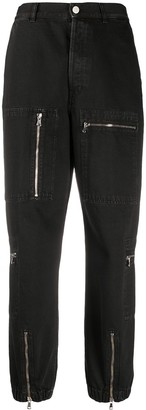Nine In The Morning High-Waisted Zip Detail Trousers