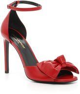 Saint Laurent Jane Sandals With Bow