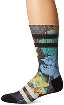 Stance Men's Corsage Floral Stripe Arch Support Classic Crew Sock