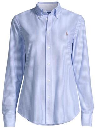 Ralph Lauren Classic Striped Button-Front Shirt
