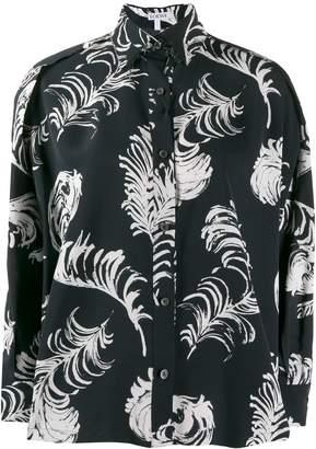 Loewe floral flared shirt
