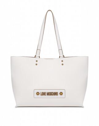 Love Moschino Shopper With Logo Woman White Size Single Size