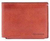 Men's Jack Mason Pebbled Leather Wallet - Orange