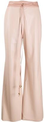 Nanushka High-Waisted Flared Trousers