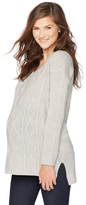 Motherhood Cable Knit Maternity Sweater
